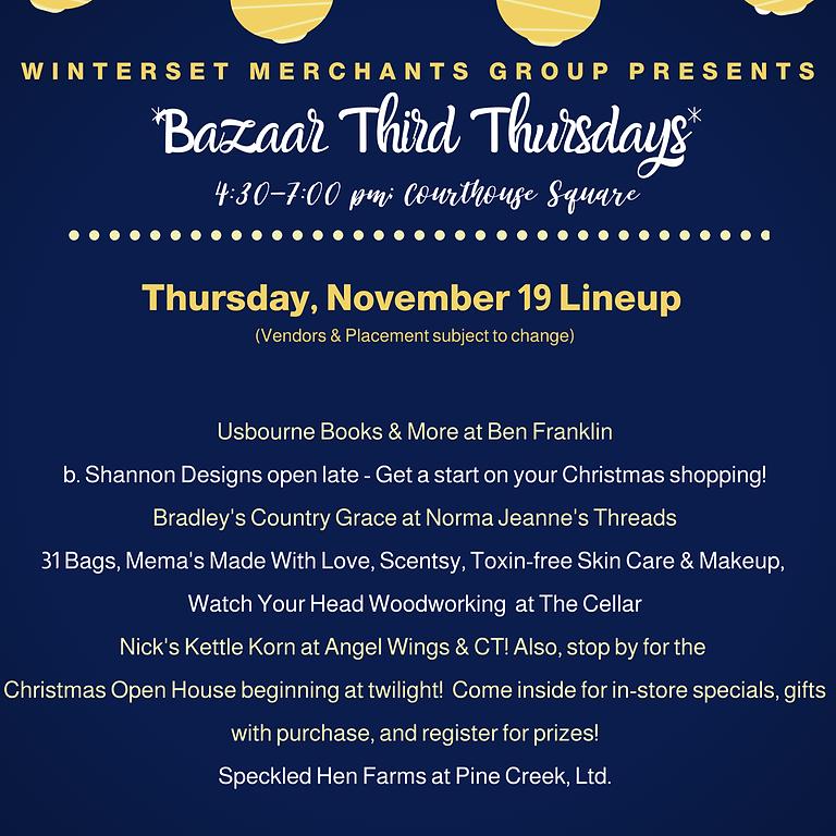 Winterset Merchants Group's Bazaar Third Thursdays