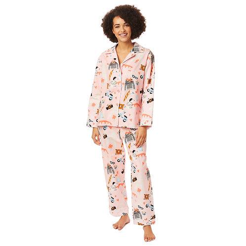 The Cat's Pajamas Je T'Aime Paris Flannel Pajama