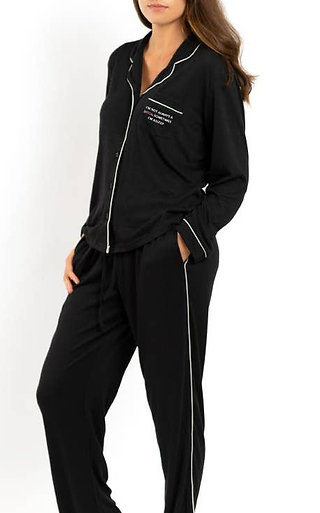 LA Trading Co. Luxe Crepe PJ Set- I'm Not Always A Bitch...