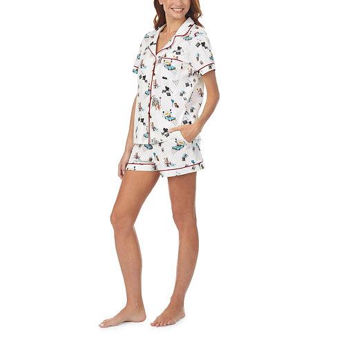 Bedhead Golden State  Short Sleeve Classic Shorty Stretch Jersey PJ Set