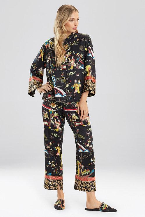 Natori Kana Mandarin Print Pajama Set