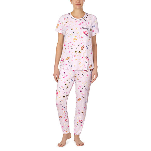 Kate Spade Jewelry Toss Short Sleeve Banded Pajama Set