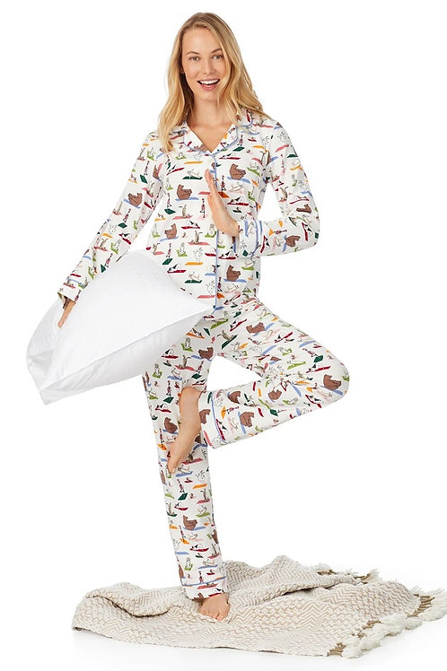 Bedhead Zen at the Zoo Long Sleeve Classic Stretch Jersey PJ Set