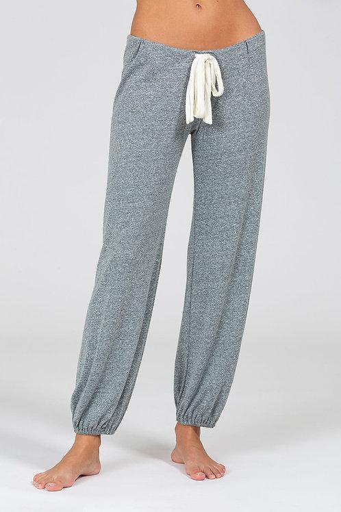 Eberjey Heather Cotton Blend Cropped Pant - Heather Grey