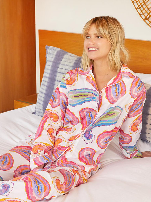 The Cat's Pajamas Paisley Daze Luxe Pima Pajama
