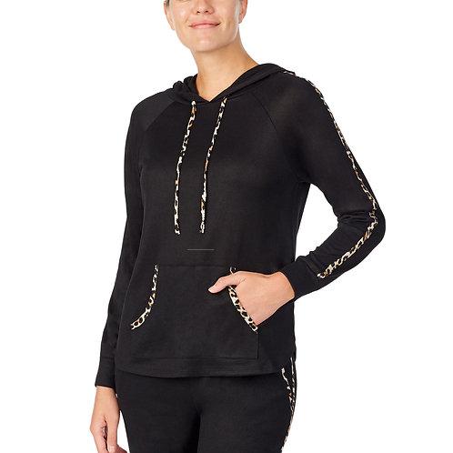 Kate Spade Leopard Sweater Knit Hoodie