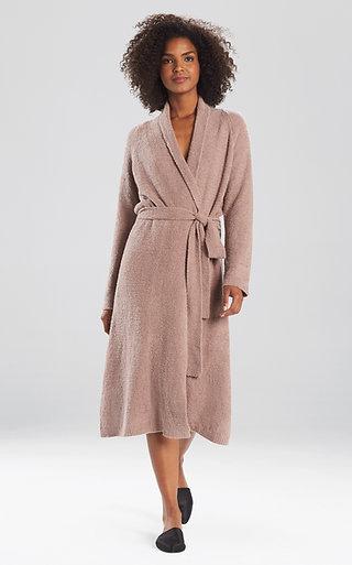 Natori Plush Serenity Sweater Knit Robe