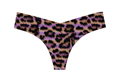 Commando Classic Painted Leopard Thong