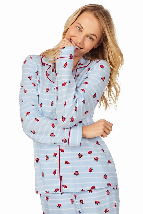 Bedhead Walk the Line Long Sleeve Classic Stretch Jersey PJ Set