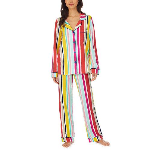 Bedhead Summer Stripe Long Sleeve Knit Classic PJ Set