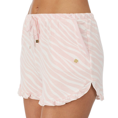 Kate Spade French Terry Pink Zebra Lounge Shorts