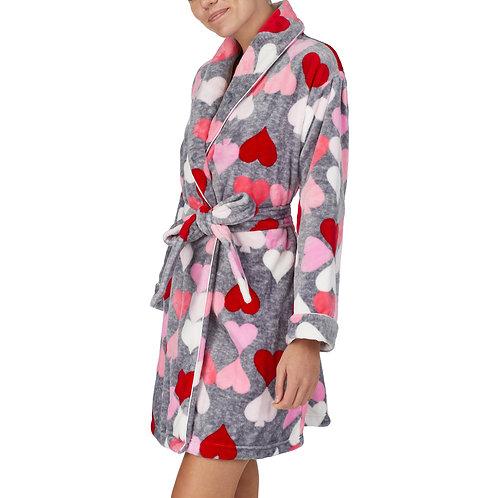 Kate Spade Heart Spade Print Plush Wrap