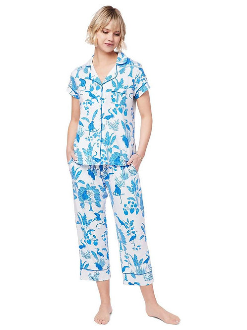 The Cat's Pajamas Tamarindo Pima Knit Capri Pajama Set