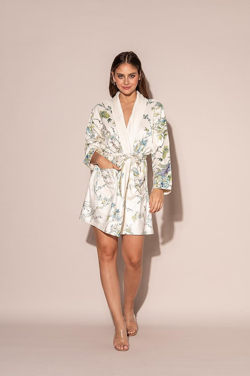 Wrap Up Blue By You Short Robe