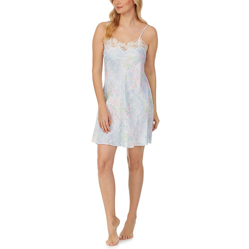 Eileen West Watercolor Floral Satin Chemise