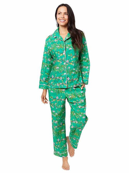 The Cat's Pajamas Sakura Luxe Pima Cotton Pajama