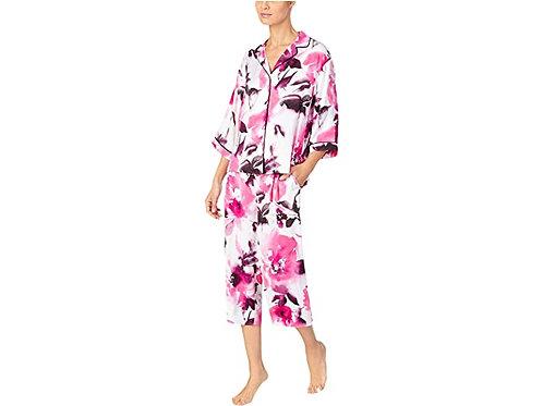Donna Karan Charmeuse Capri Pajama Set