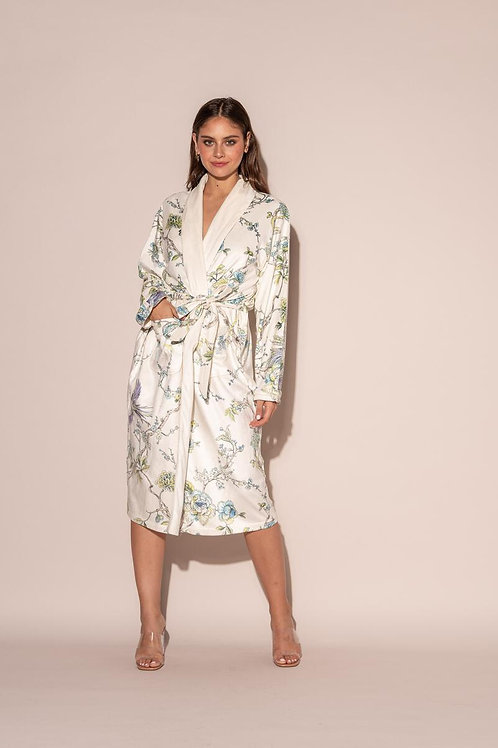 Wrap Up Blue By You Long Robe