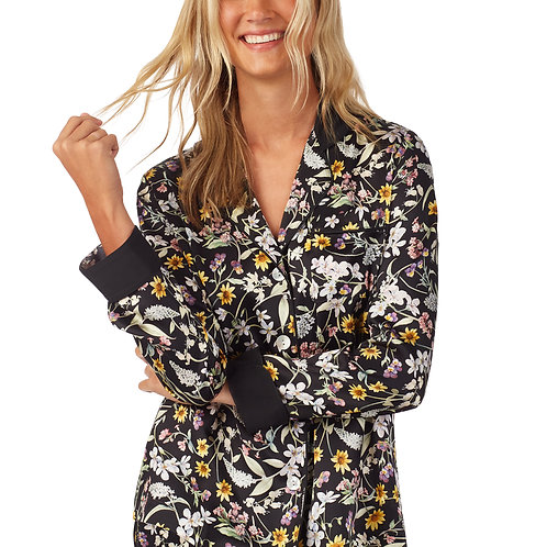 Bedhead Liberty Fabrics Primavera Long Sleeve Tulip Cuff Silk Satin PJ Set