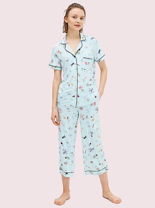 Kate Spade Lazy Sunday Printed Capri Pajama Set