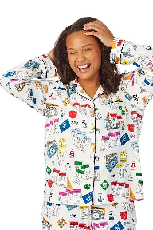 Bedhead On Let's Play Monopoly Long Sleeve Knit Classic PJ Set