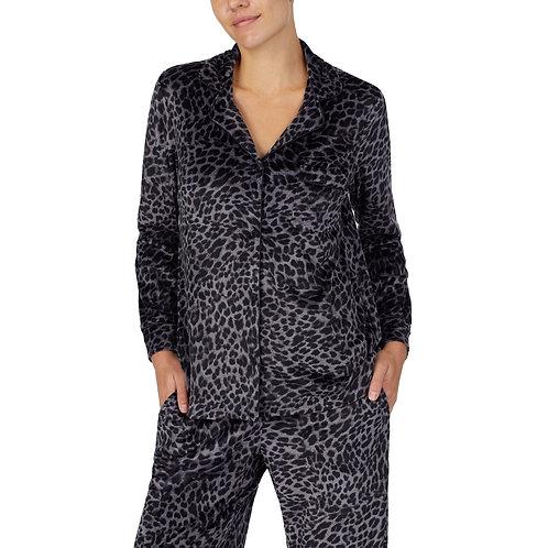 Donna Karan Charcoal Leopard Velour Pajama Set