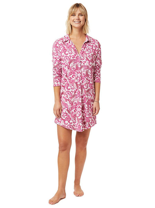 The Cat's Pajamas Queen Anne Knit Nightshirt
