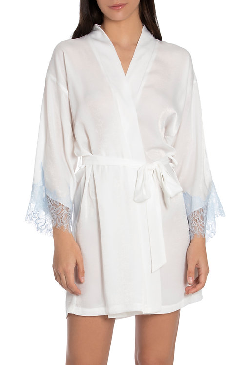 In Bloom Seagrass Lace Trim Satin Wrap