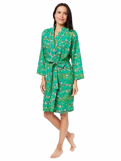 The Cat's Pajamas Sakura Luxe Pima Kimono Robe