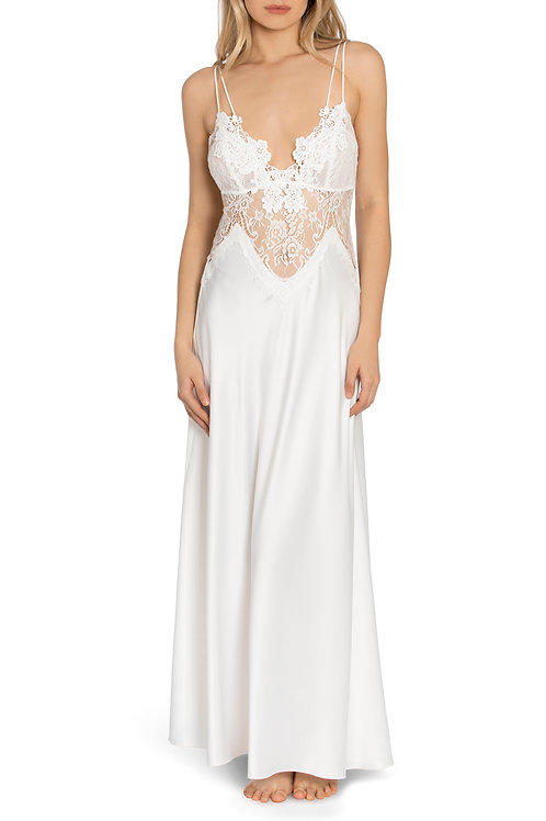 Jonquil Betina Satin & Lace Gown