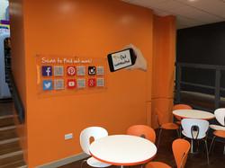 Reception Social Media Wall