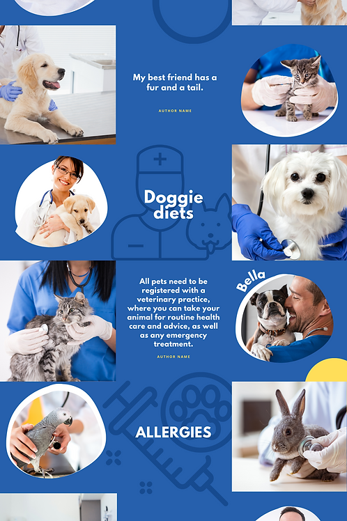Puzzel template for pet services