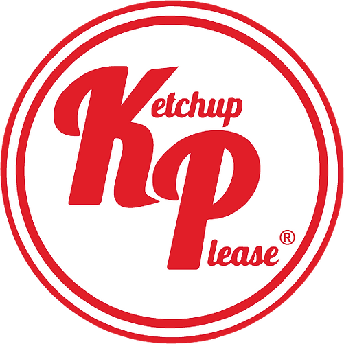 Ketchup Please logo red (squared) (White