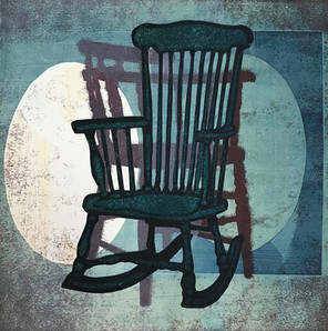 Rocking Chair with Spotlights