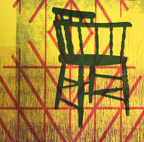 Armed Chair with Pattern