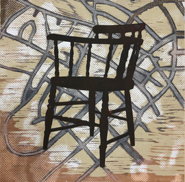 Armed Chair with Map