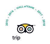 TripAdvisor 2015-2019 Hall of Fame Certificate of Excellence - Bacon's Bistro & Cafe