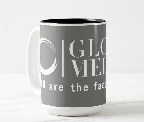 Glow Medspa Coffee Mug Gray/White