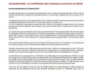 La Loi Biodiversité a été adoptée en première lecture au Sénat le 26 janvier 2016 sans articles anti