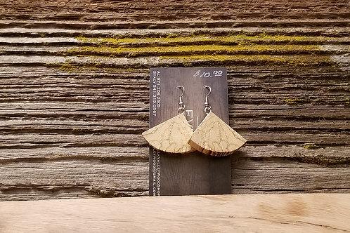 Spalted Oak Rocking Triangle Earrings