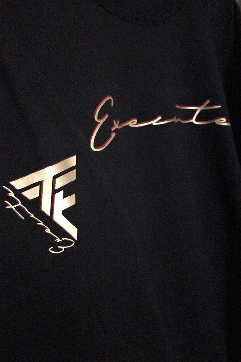 """TTE """"Trained To Execute"""" blk crewneck W/ Gold and red print"""