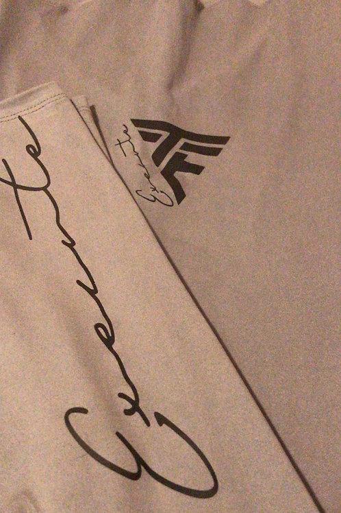 "TTE ""Execute"" Grey Female leggings W/ Blk print"