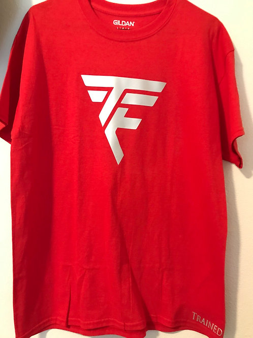 TTE Trained To Execute Red Tshirt W/ Grey print