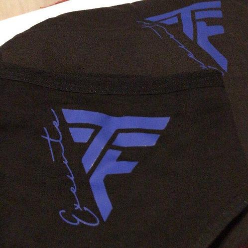 """TTE """"Elusive"""" female blk underwear W/ Blue print"""