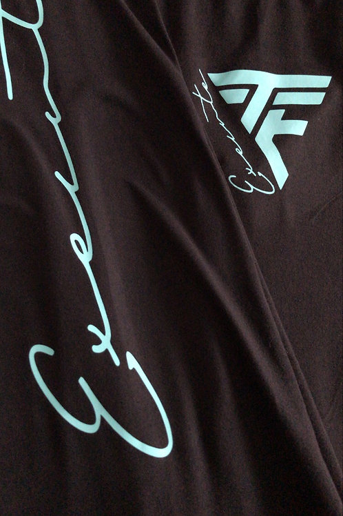 "TTE ""Execute"" leggings blk W/ Teal print"