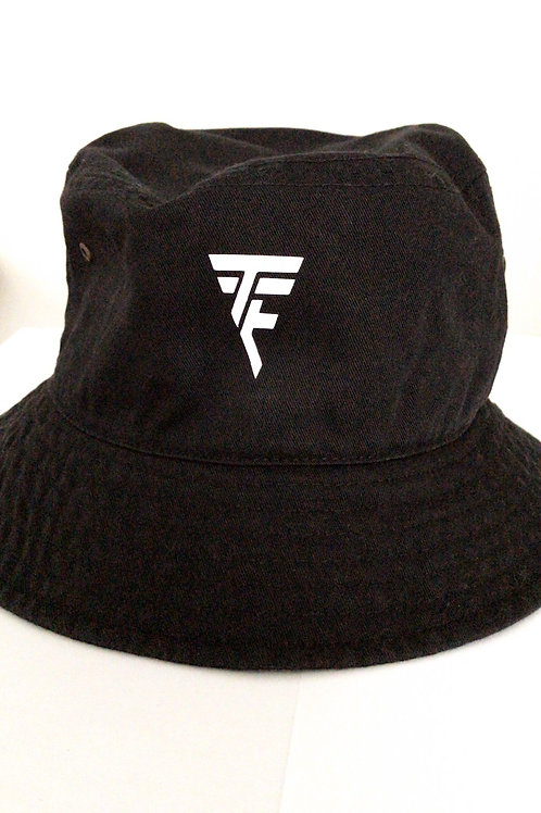 TTE Trained To Execute Blk Bucket Hat w/ white print
