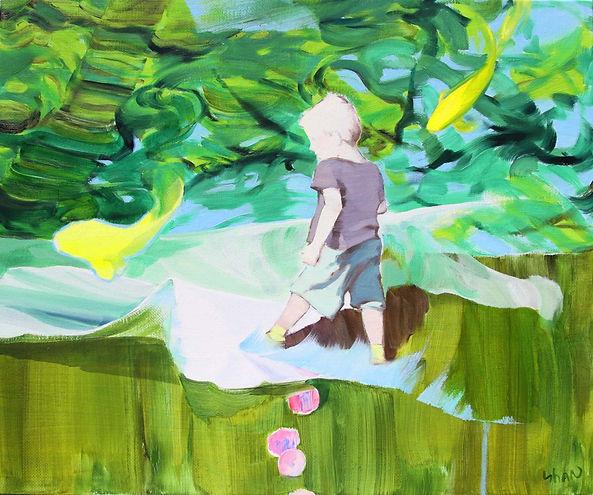 묵묵한 활보, Oil on canvas, 60.7 X 7