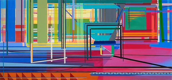 Main Gate,60×130cm,Acrylic on canvas,2021.jpg