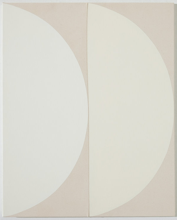 안현정, Series_Set the Heart on Things Above_01, 90.9 x 72.7cm, acrylic on sewn canvas and li