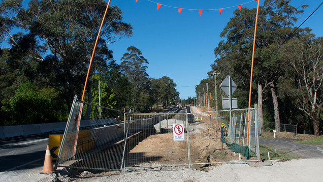 The road works outside of Bilpin. I don't see any footpaths or cycleways being built.